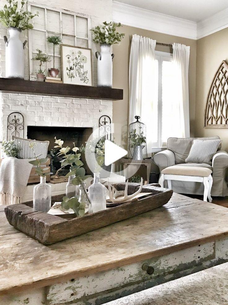 Small living room farmhouse decor