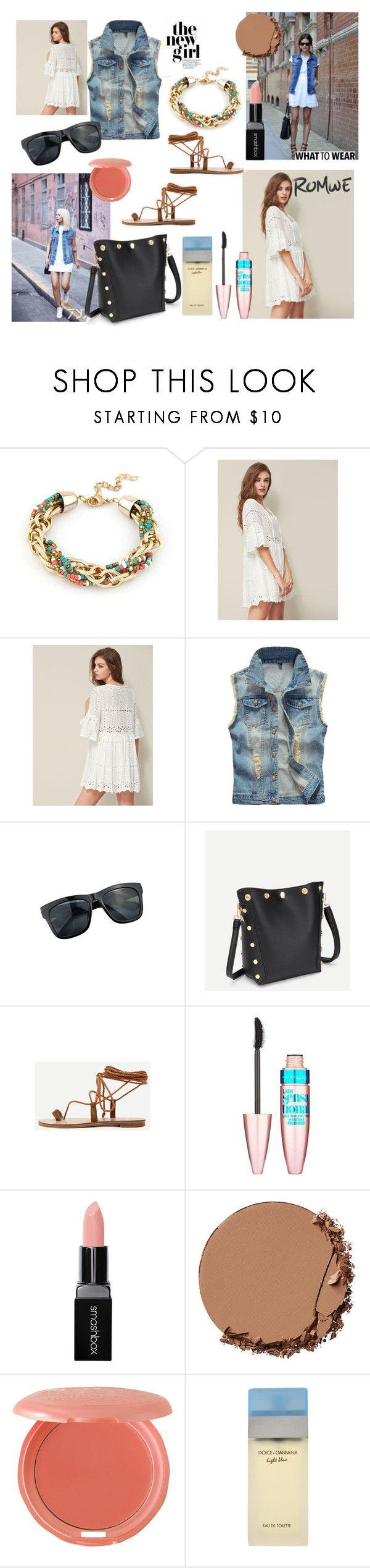 The new girl by paisleyvelvetandlace on Polyvore featuring Urban Decay, Stila, Smashbox, Maybelline and Dolce&Gabbana