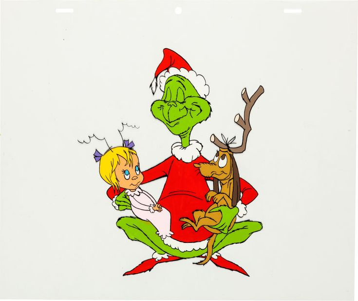 Animation ArtProduction Cel Dr Seuss How The Grinch Stole Christmas