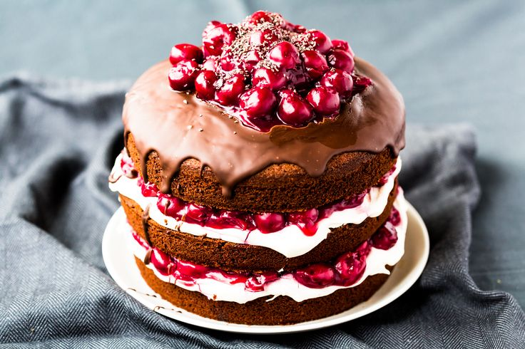 Gorgeous Thermomix Black Forest Gateau. Recipe is simple and perfect for chocolate fanatics.