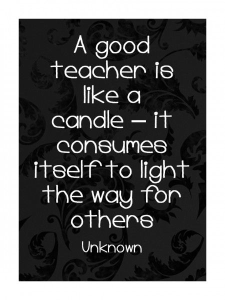 Teacher appreciation quote to frame and give as a gift @Matt Nickles Nickles Valk Chuah Organised Housewife