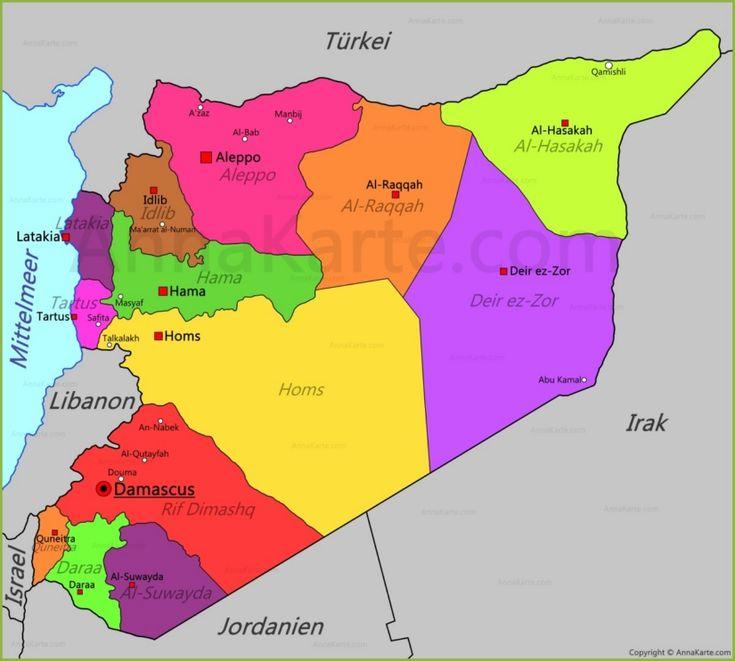 Syrien Karte