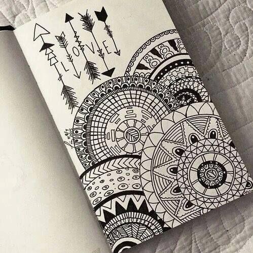 drawing, love, and mandala image
