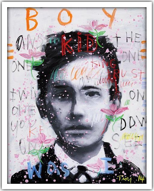 Troy Henriksen - Self Portrait - Kid boy - Acrylique et mixte sur toile - 146 x 114 cm - 2014 - Galerie W - Galerie d'Art contemporain à Paris #galeriew #gallery #w #gallery w #troy-henriksen @galeriew