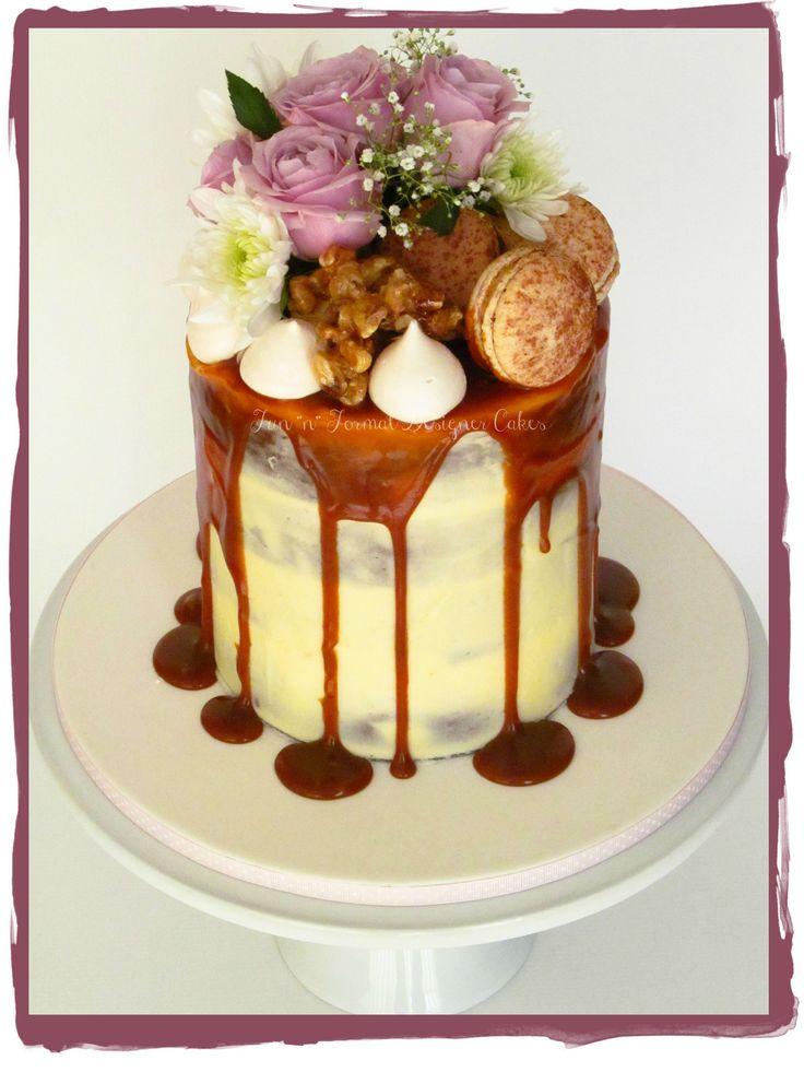 Fresh flower drip cake.
