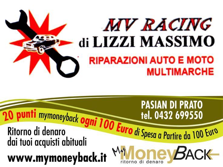 MV Racing si occupa di riparazioni di auto e moto di tutte le marche.  Grazie a MyMoneyBack hai 20 punti MyMoneyBack ogni 100 € di spesa a partire da 100 € di acquisti!! Un servizio completo guadagnando punti da cambiare in denaro contante!  #MyMoneyBack