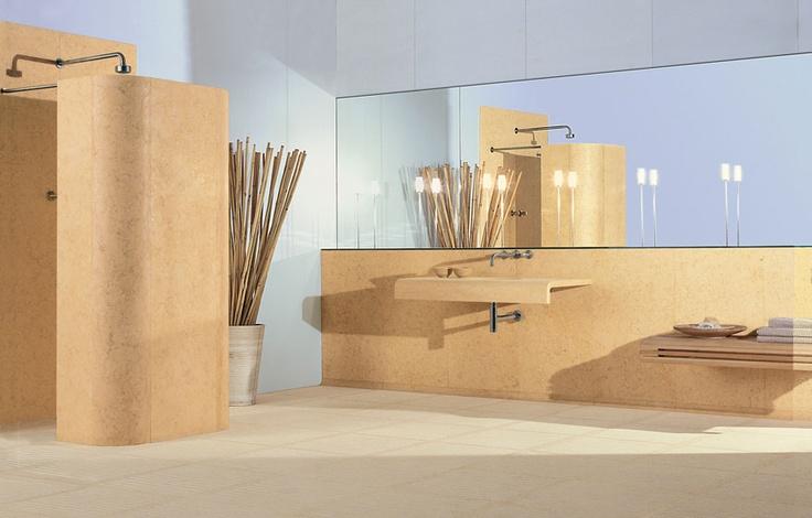 Bigelli Marmi - Yo & Me bathroom by HANS THYGE RAUNKJAER.  Bathroom in marble Silva Oro