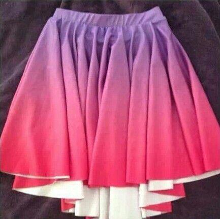 Black Milk Unreleased Sample - Pink and Purple Ombre skater skirt