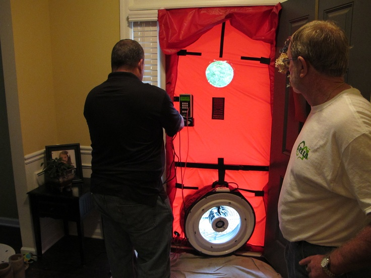 Pre Foam Blower door test: Amazingly, a DR Horton home tested well.