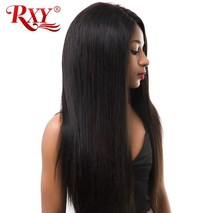 150% Density RXY Brazilian Straight Lace Front Human Hair Wigs For Black Women Glueless Pre Plucked Wigs Non-Remy Hair Wig