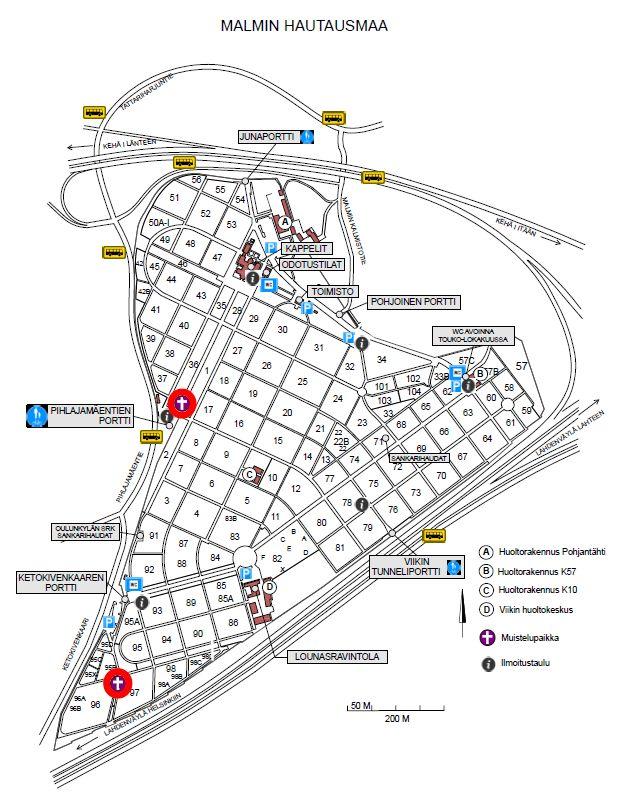 Malmin Hautausmaan Kartta
