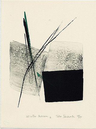 toko shinoda : lithographs (prints), Japan 篠田 桃紅