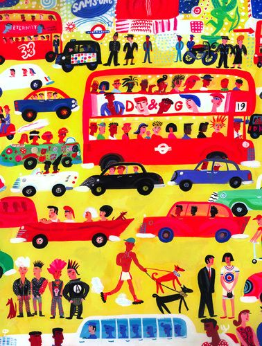 London Traffic by Christopher Corr - art print from Easyart.com