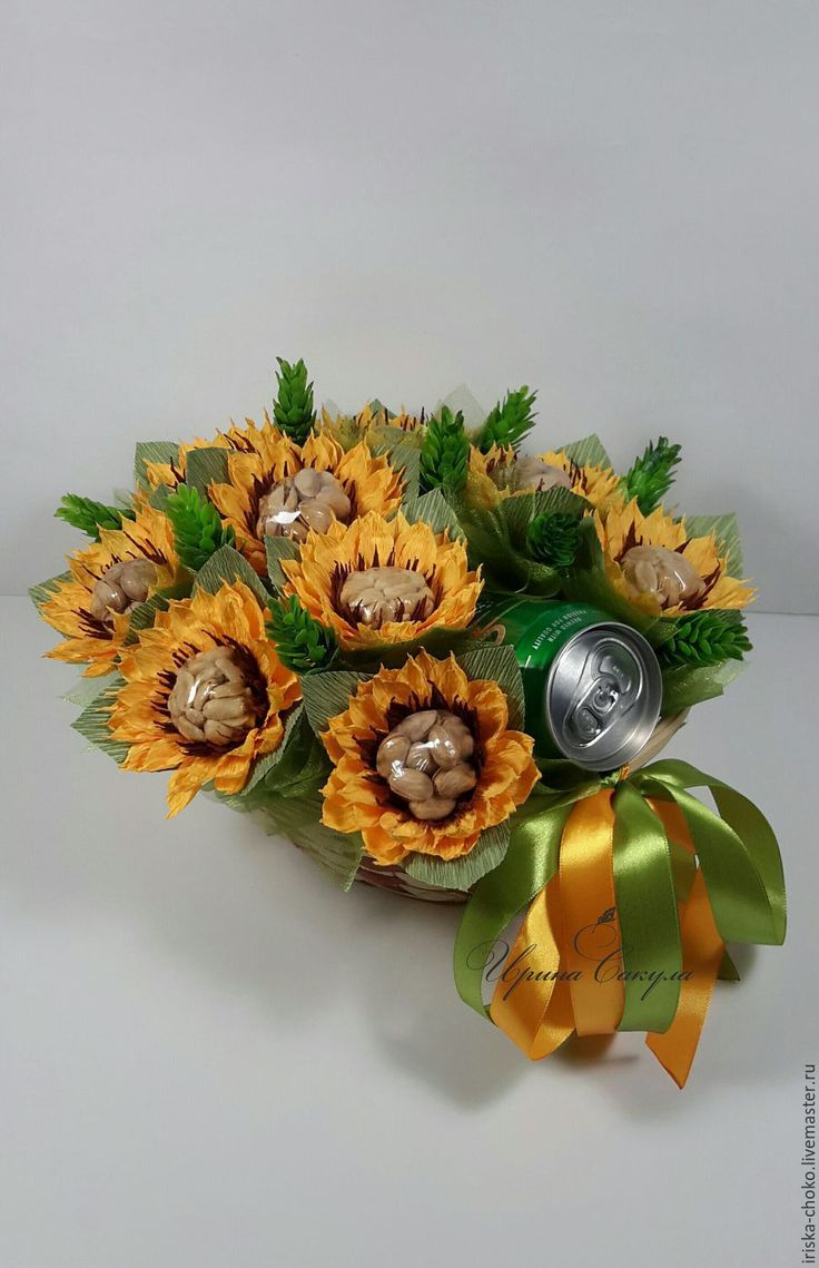 Купить Подарок мужчине брату другу на 23 февраля - вкусный подарок, орешки, пиво, подсолнухи