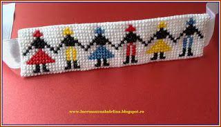 lucru manual adelina: Bratara tricolor etamina cusaturi traditionale Hor...