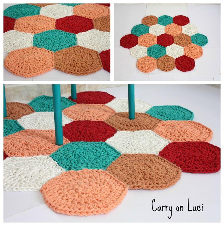 Carry on Luci: Al lío con el trapillo - Ideas trapillo alfombras - Crochet rug ideas