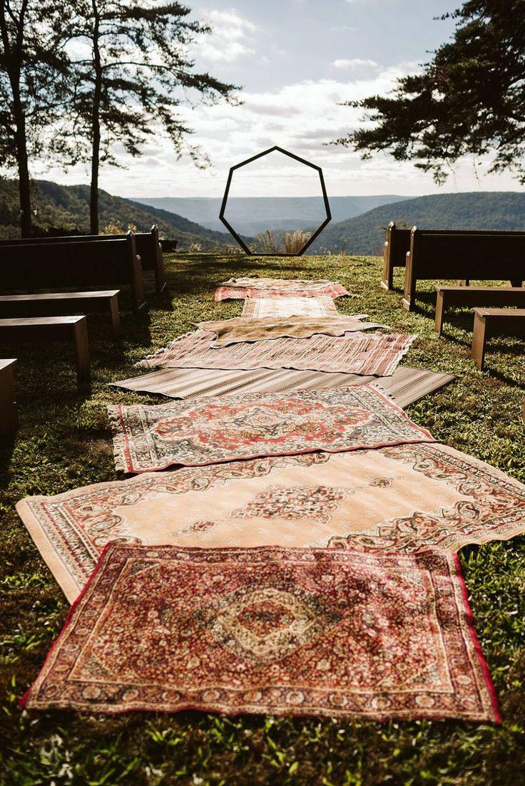 DIY Eclectic Gypsy Waterfall Wedding in Foster Falls USA