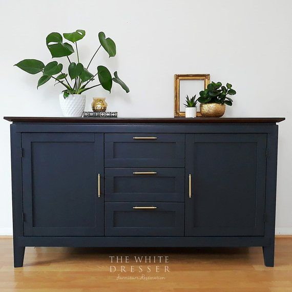 Stunning Navy Modern Sideboard Blue Sideboard Painted - Tv Sideboard