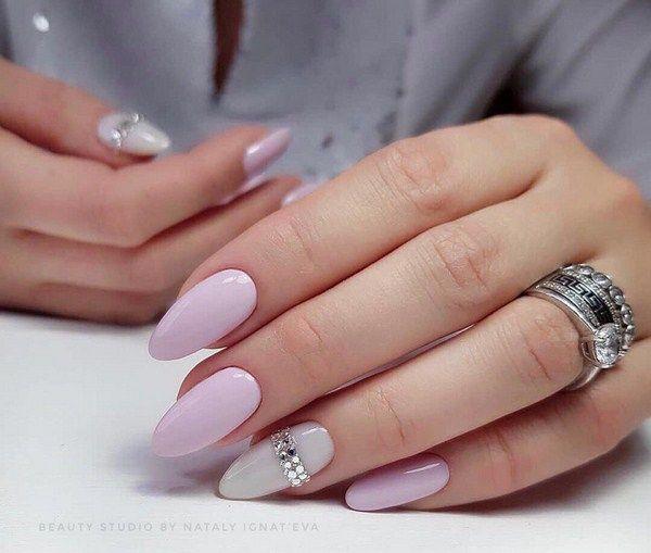 Дизайн ногтей нежный маникюр