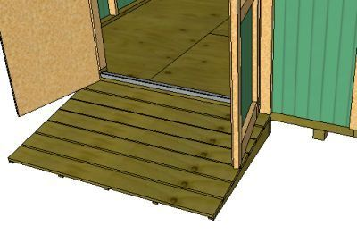 Build a ramp for shed
