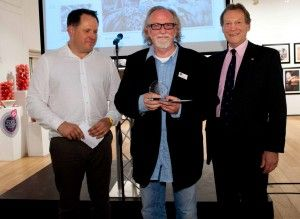 Winner of our Food and its Place category, Tim Clinch, receiving his award!