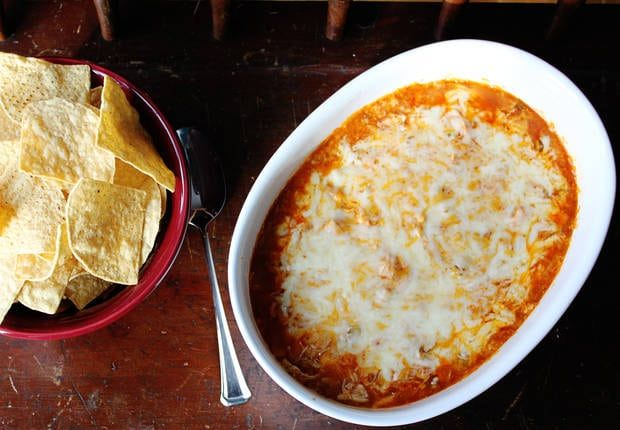 Blogger Jessica Walker from Lil Miss Bossy shares a recipe to turn your favorite Mexican dinner into a cheesy dip! Watch out, it will go fast!