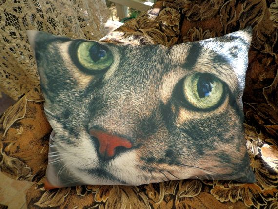 Cushion for sofa with the image of cats от CushionStudio на Etsy