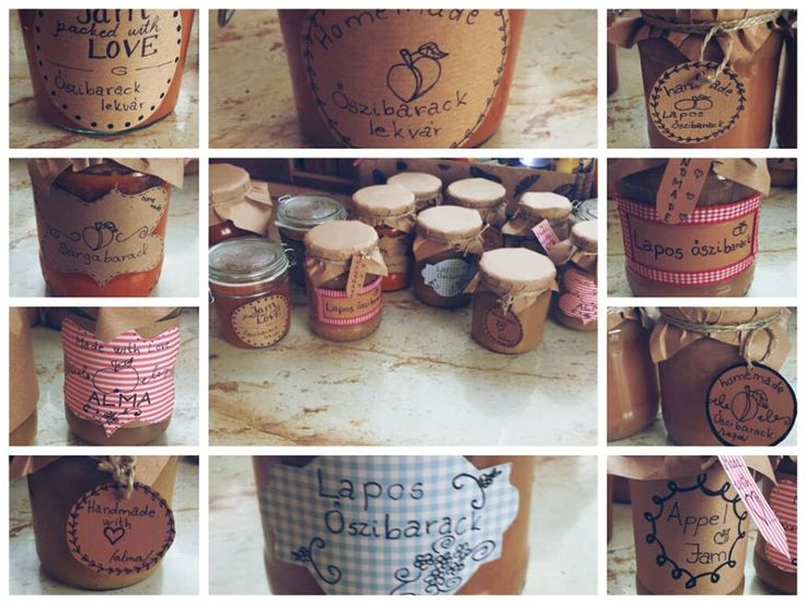 jam jars, homemade <3