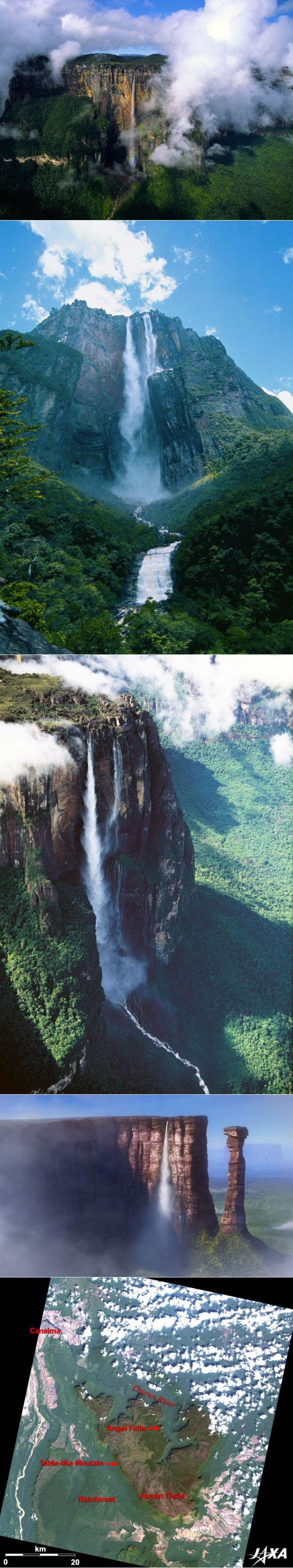 Водопад Анхель (по-английски - Энджел, местное название - Чурум-меру) находится на р. Чуруми - притоке р. Каррао (бассейн р. Ориноко) в Южной Америке, в Венесуэле.