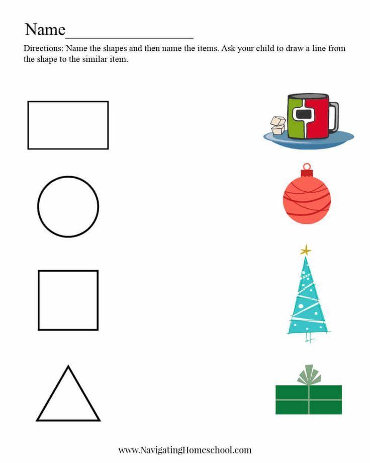 Shape Worksheet For Preschool Christmas Shape Worksheets For Preschool Christmas Worksheets Preschool Christmas Worksheets