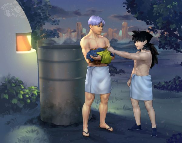 052 : Evening Training - Boxer & Rice: DBZ Yaoi Fanfictions & Fanarts of Two Princes