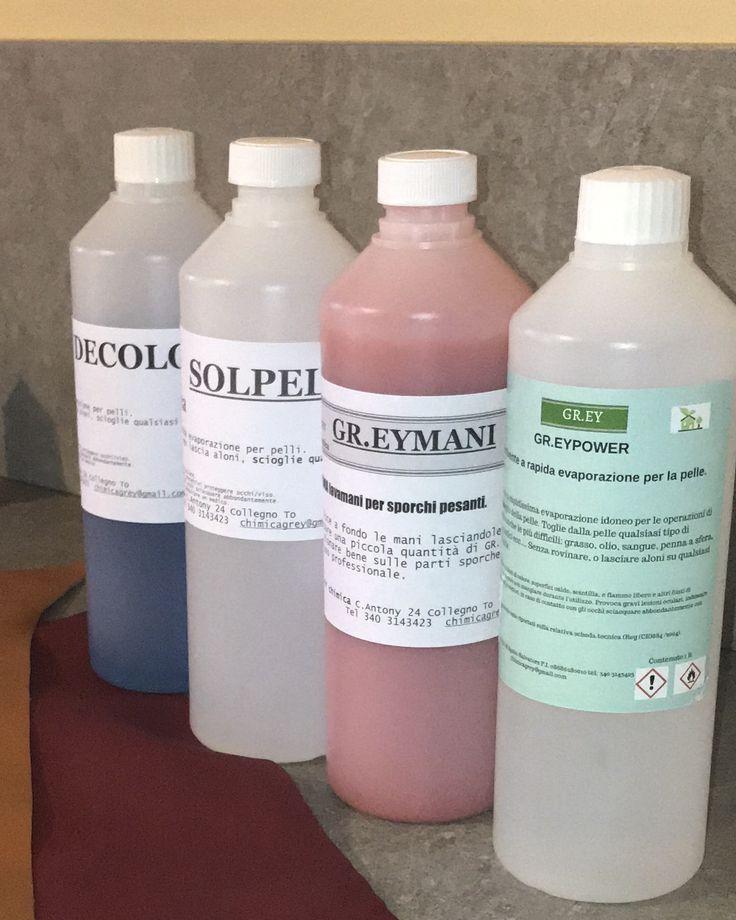 Prodotti GR.EY CHIMICA per la pelle.