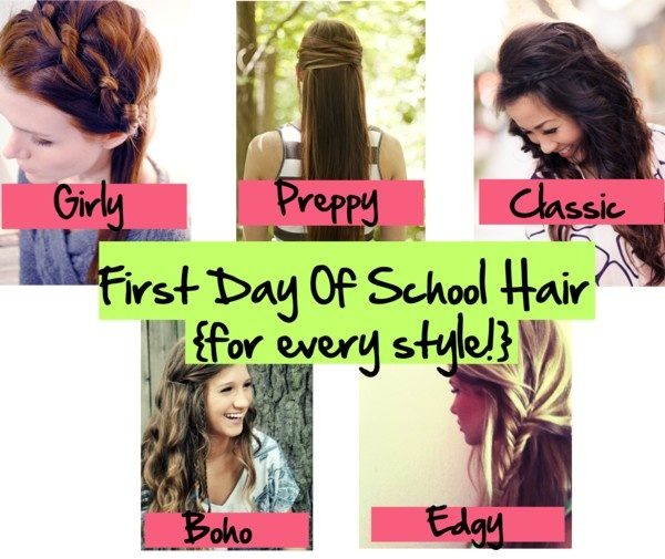 First Day Of School Hair {for every style} - The Girl, The Glitter - 11 Best Cute First Day Of School Hairstyles;) Images On Pinterest