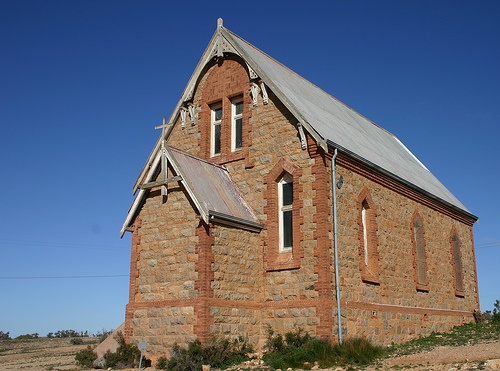 Silverton Church near Broken Hill, Silverton, New South Wales, AU by calzean