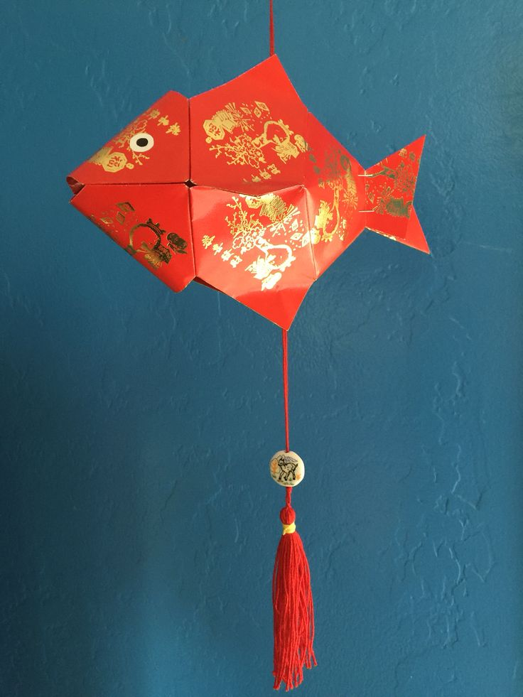 Fish made from lucky red envelopes ang pow my for Ang pow koi fish tutorial