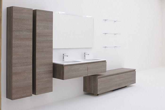 Description: Plaza wallmount vanity, wall cabinets Read More