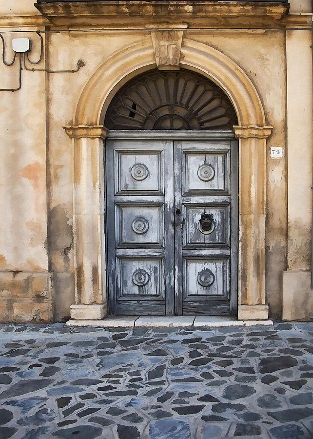 Lecce Arched Door by Sharon Foster, via fineartamerica.com