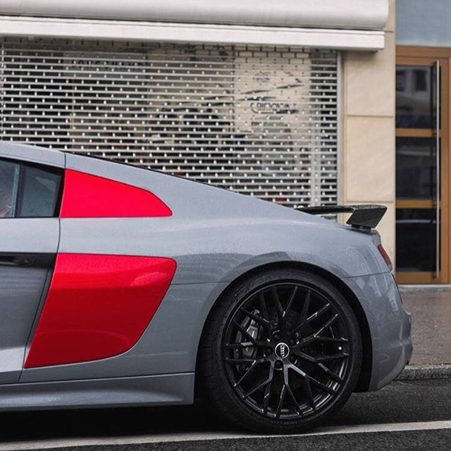 "2,022 Likes, 15 Comments - Audidriven (@audidriven) on Instagram: ""Red side pieces -> let's go crazy Someone figured: to hell with Nardo grey understatement #newR8…"""