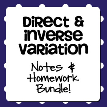 Direct variation homework help
