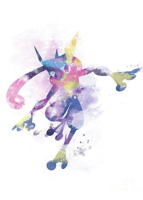 Pokemon Greninja Greeting Card #pokemon #pokemongo #watercolor #gift #illustration