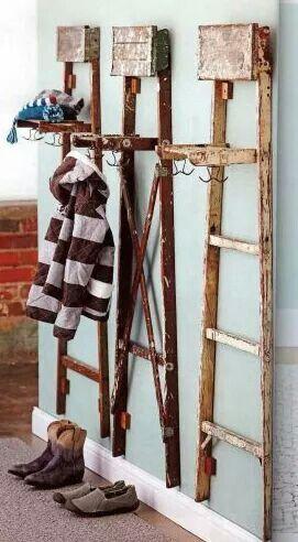 Vintage ladders up cycled