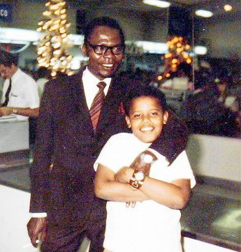 Barack Obama, Sr. and Jr.