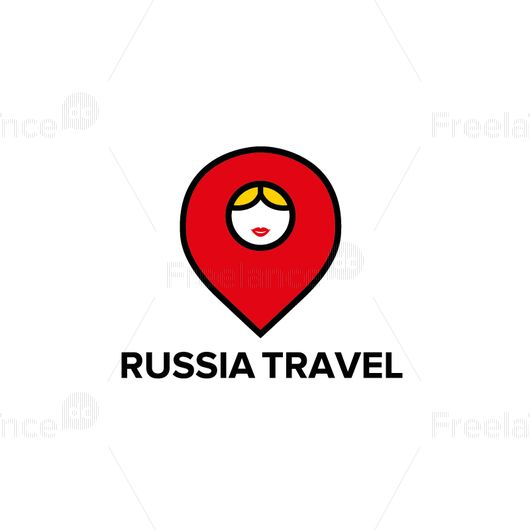 Logo from Russia with love. Vector graphics.
