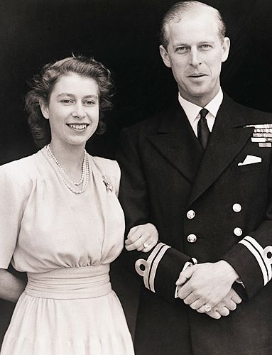 The diamonds for Queen Elizabeth II's engagement ring from Prince Philip have a special history: They came from a tiara belonging to Philip's mother, Princess Andrew of Greece.