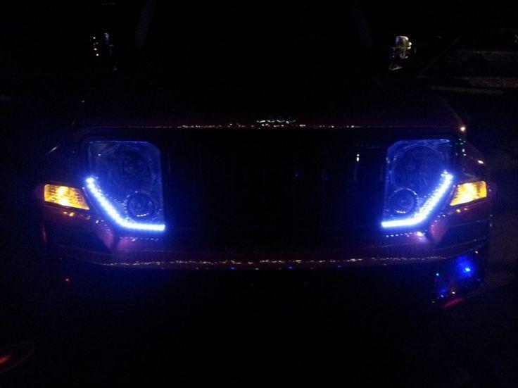 luz azul jeep