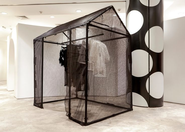 """DOVER STREET MARKET, Beijing,China, """"Installation by Phoebe English"""", pinned by Ton van der Veer"""