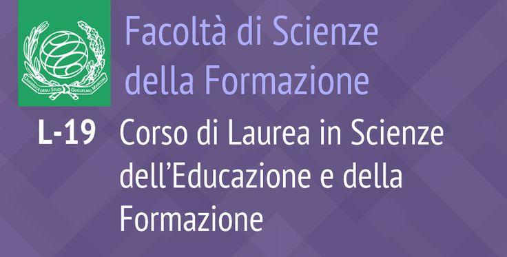 L-19 Corso di Laurea in Scienze dell'Educazione e della Formazione
