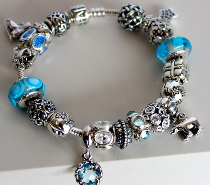 Beaded Bracelet Design Ideas 1000 images about bracelet design ideas on pinterest fusion beads bracelets and chan luu Wow The Blues Just Pop On This Pandora Bracelet
