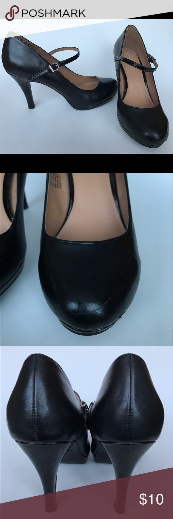 Classic Black Mary Jane Heels Classic KASPER Mary Jane black heels. Gently used and loved! Scuffed here and there (pictured) Kasper Shoes Heels