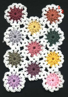 Crochet Yoyo Patterns : yo-yo crochet afghan pattern. Cute! This would be super ...